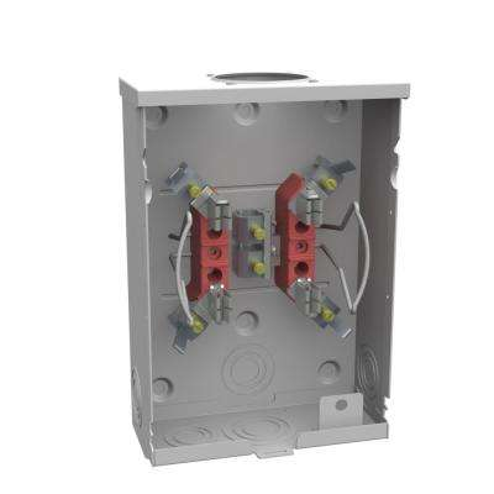 125 Amp 4-Terminal Ringless Overhead/Underground Horn Bypass Meter Socket