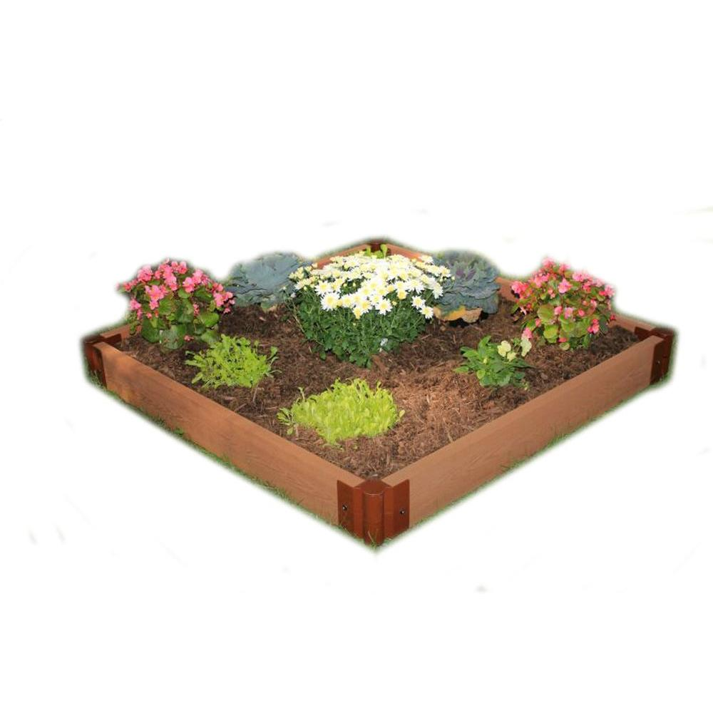 Frame It All Two Inch Series 4 Ft X 4 Ft X 5 5 In Composite Raised Garden Bed Kit 300001080