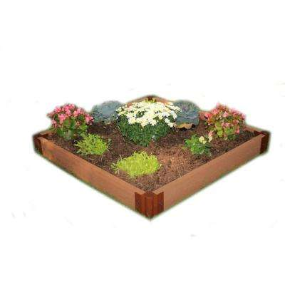 Two Inch Series 4 ft. x 4 ft. x 5.5 in. Composite Raised Garden Bed Kit