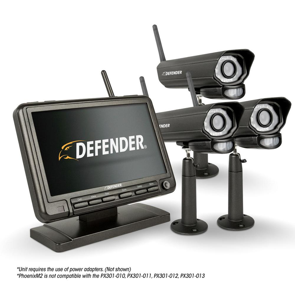 PHOENIXM2 4-Channel 480TVL 8GB Security Camera System with 7 in. Monitor