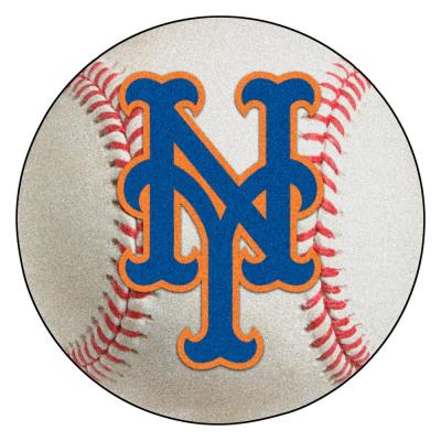 MLB New York Mets Photorealistic 27 in. Round Baseball Mat