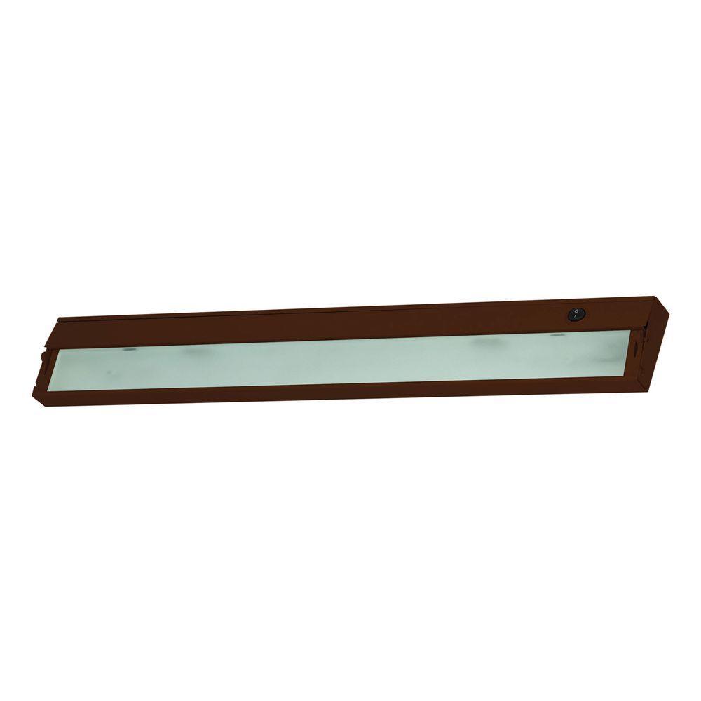 Titan Lighting Aurora 4-Light Bronze Under Cabinet Light