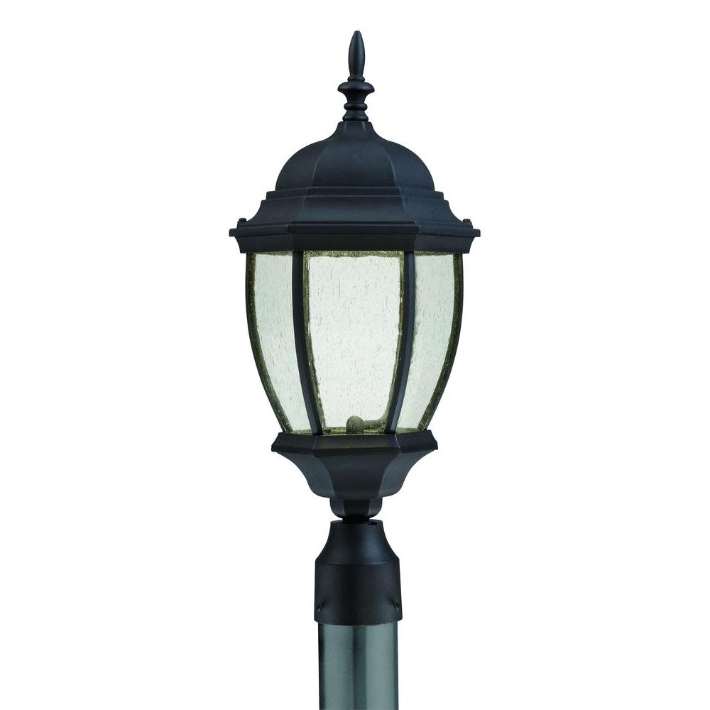 Thomas Lighting Covington Outdoor Black LED Post Lantern-DISCONTINUED