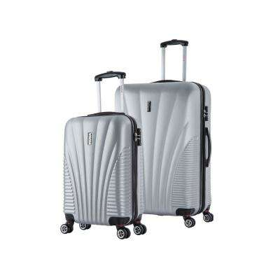 Chicago lightweight hardside spinner 2 piece Set 21 & 29-Silver
