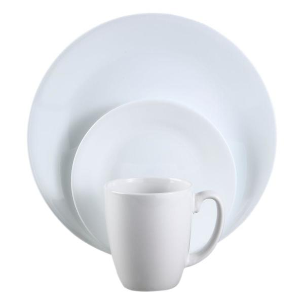 Corelle Classic 16-Piece Winter Frost White Dinnerware Set 6022003