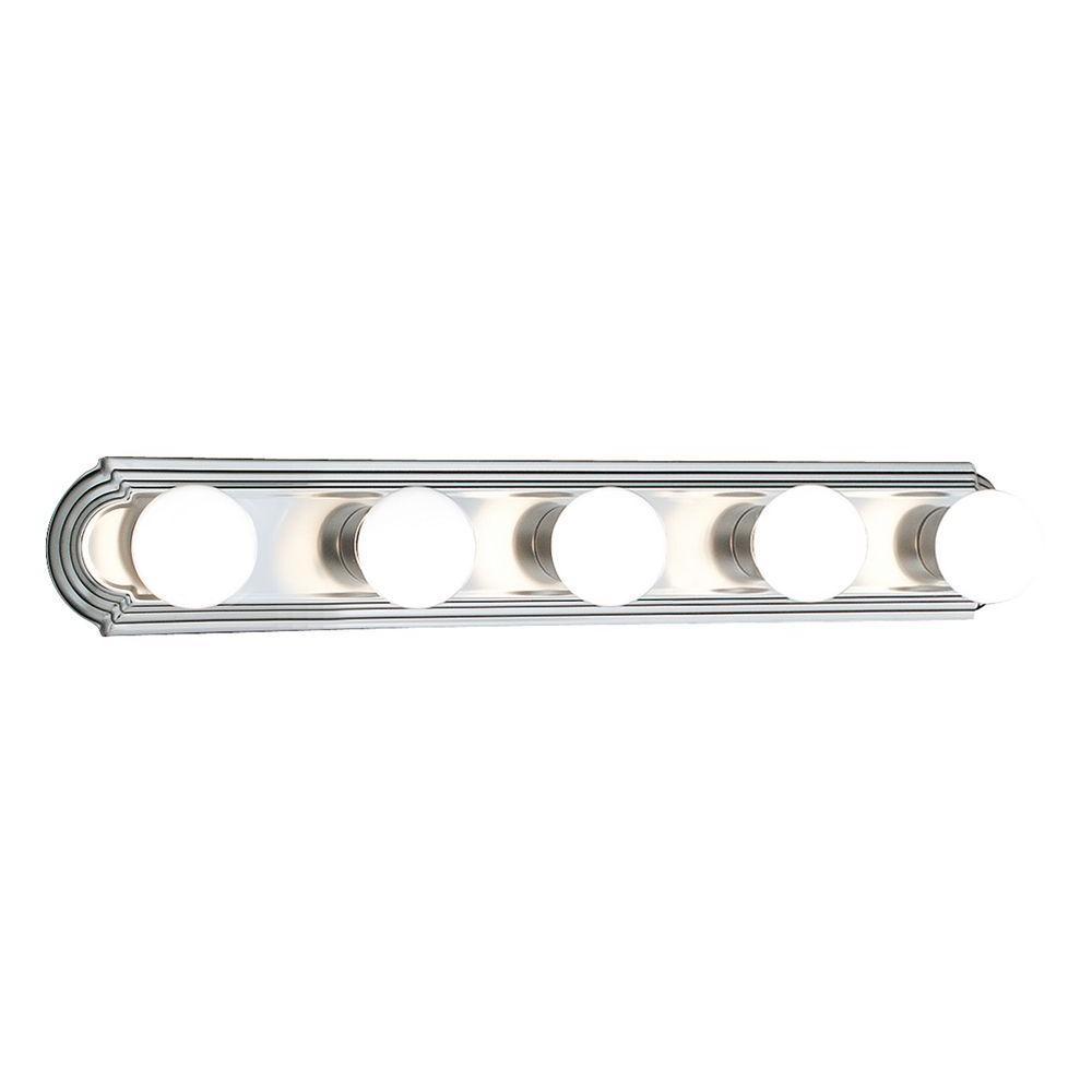 Thomas Lighting 5-Light Brushed Nickel Wall Vanity-DISCONTINUED