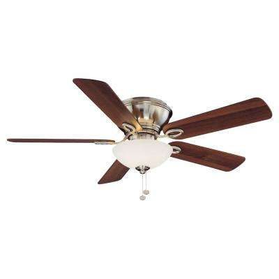 Adonia 52 in. LED Indoor Brushed Nickel Ceiling Fan with Light Kit