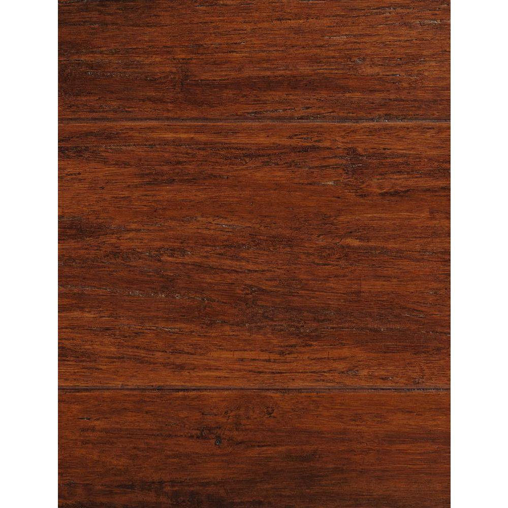 Home Decorators Collection Handscraped Strand Woven Brown 1/2 in.Thick x 5-1/8 in.Wide x 72-7/8 in.Length Solid Bamboo Flooring (25.93 sq.ft./case)