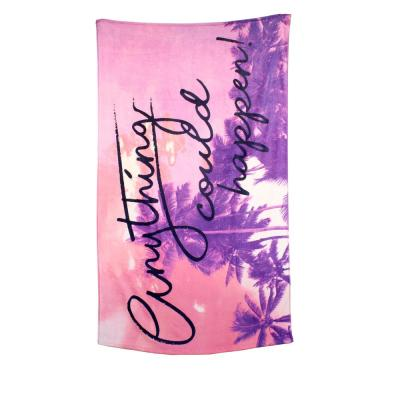 Anything Could Happen 100% Cotton Beach Towel Fiber Active Print