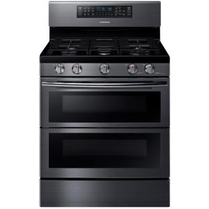 double oven gas range with probake convection oven and easyclean in stainless the home depot