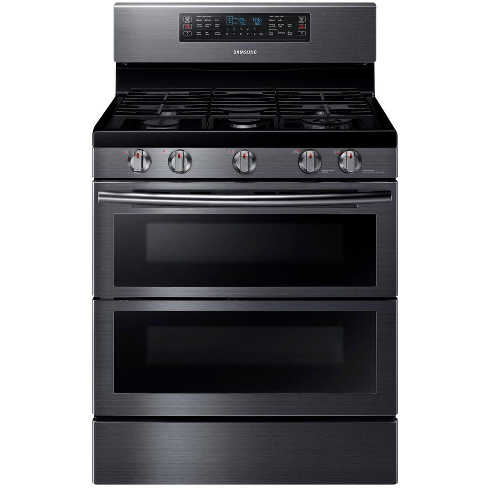 d29a3620b Samsung 30 in. 5.8 cu. ft. Double Oven Gas Range with Self-Cleaning ...