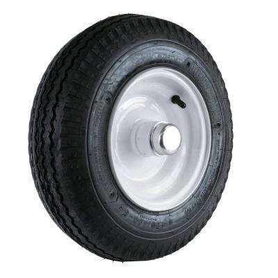 480/400-8 LRB Tire and Wheel with 1 in. Bearing for Log Splitter/Trailer