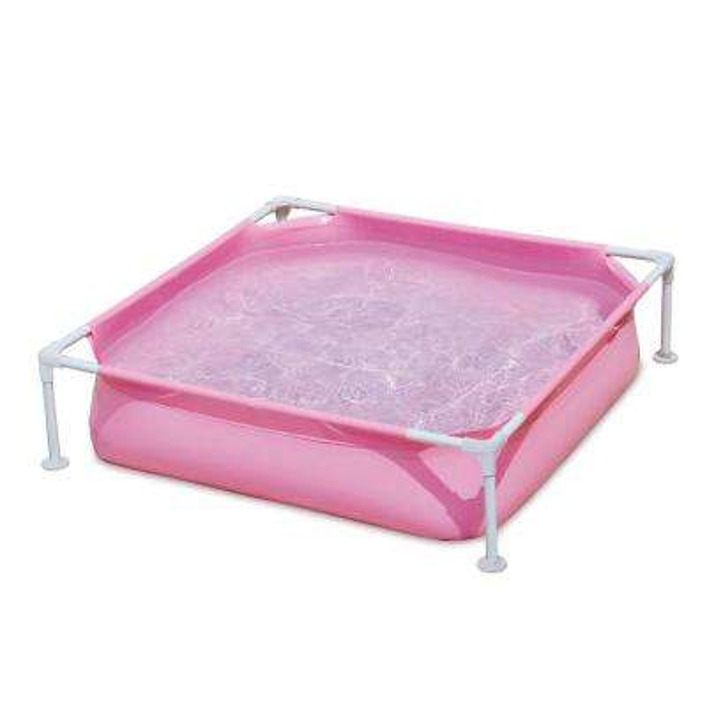 Pink 48 in. x 48 in. Square 12 in. Deep Frame Kiddie Pool
