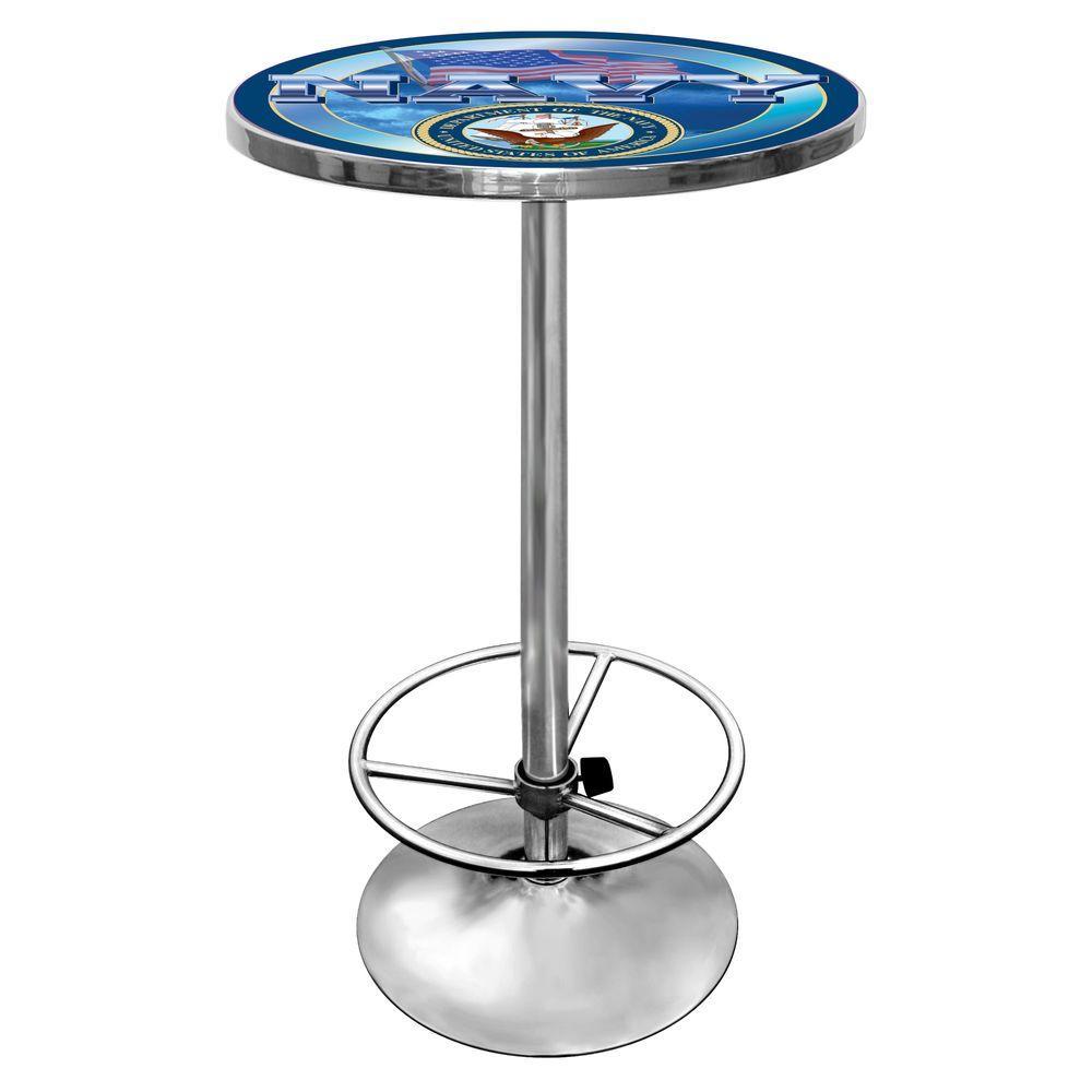 U.S. Navy Chrome Pub/Bar Table