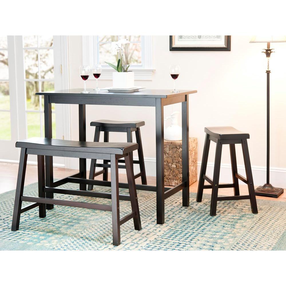 Safavieh Ronin 4 Piece Espresso Bar Table Set Amh8503a The Home Depot