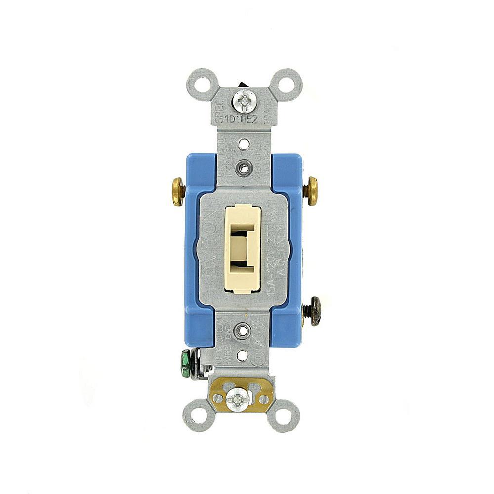 15 Amp Industrial Grade Heavy Duty 3-Way Locking Switch, Ivory