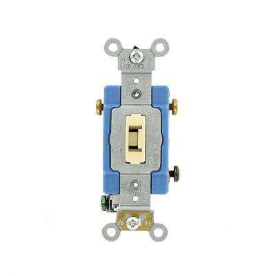 15 Amp Industrial Grade Heavy Duty 3-Way Locking Switch, Ivory