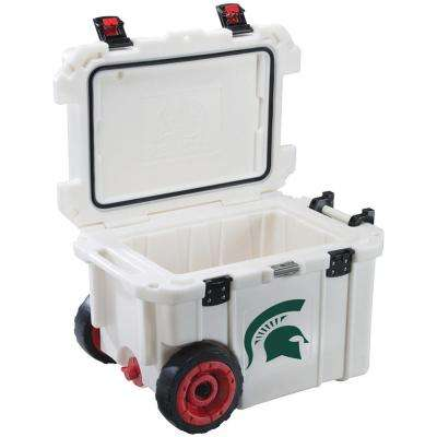 45 Qt. Michigan State University Spartans Elite Wheeled Cooler