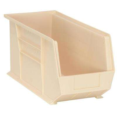 Ultra Series Stack and Hang 7.2 Gal. Storage Bin in Ivory (6-Pack)