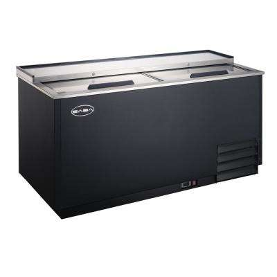 49.5 in. Commercial Chest Freezer Glass and Bottle Chiller in Black and Stainless Steel