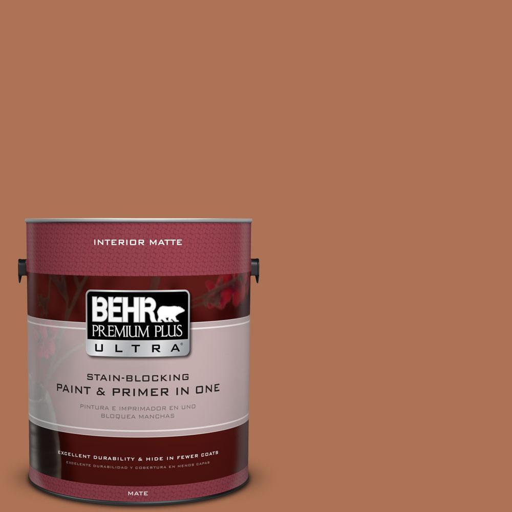 BEHR Premium Plus Ultra 1 gal. #PPU3-15 Glazed Pot Flat/Matte Interior Paint