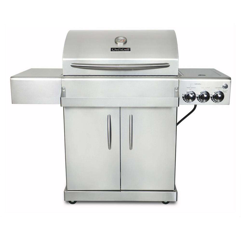 Chefs grill infrared technology 2 burner infrared propane gas grill chefs grill infrared technology 2 burner infrared propane gas grill in stainless steel dailygadgetfo Image collections