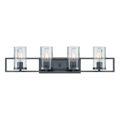 Elements 4-Light Charcoal Interior Incandescent Bath Vanity Light