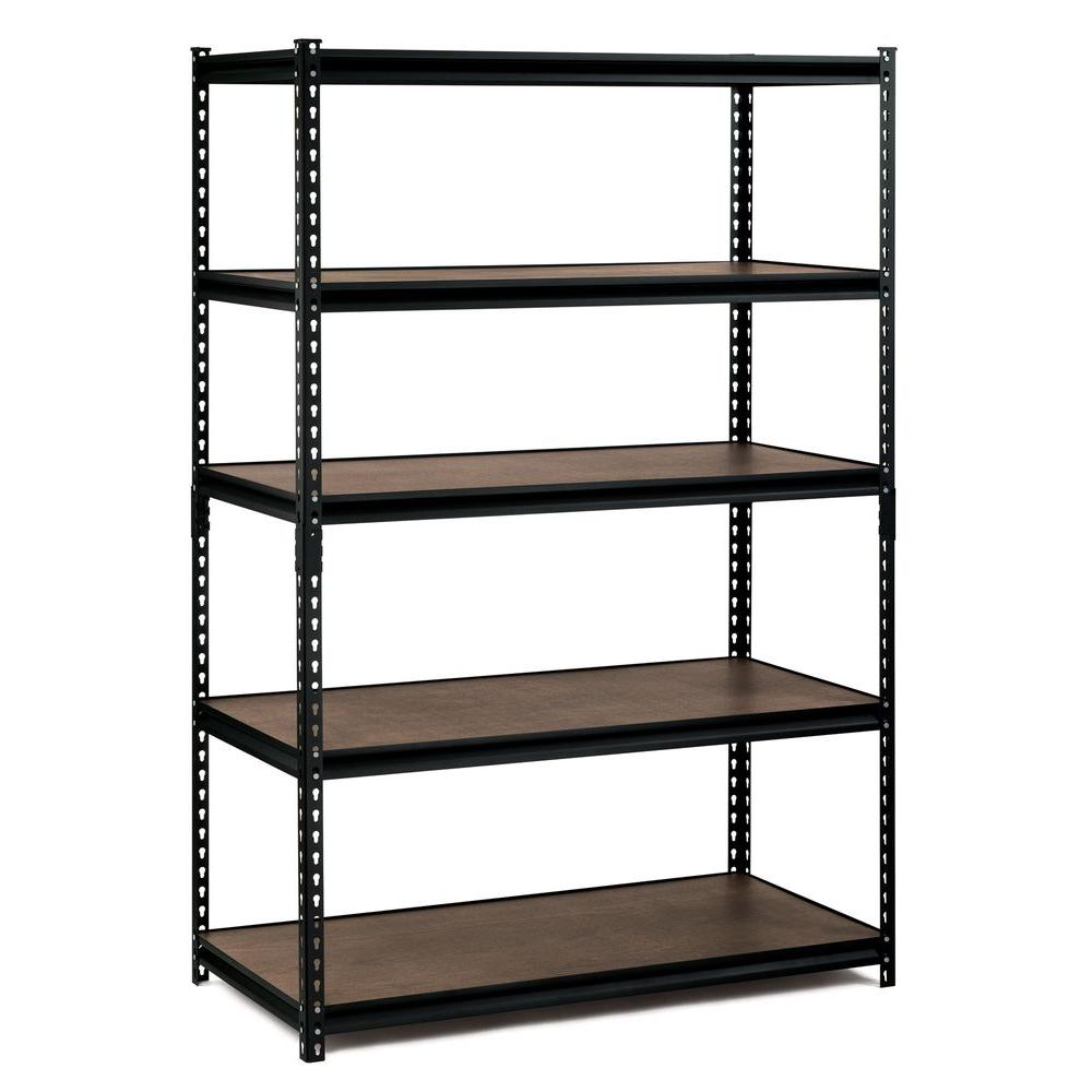 edsal 72 in h x 48 in w x 24 in d 5 shelf steel commercial rh homedepot com shelves for home library shelves for home decor