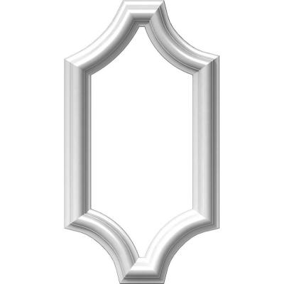 8 in. W x 16 in. H x 1/2 in. P Ashford Molded Scalloped Wainscot Wall Panel