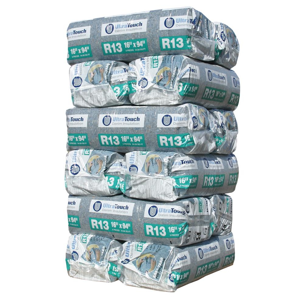 UltraTouch R-13 Denim Insulation Batts 16.25 in. x 94 in. (12-Bags)