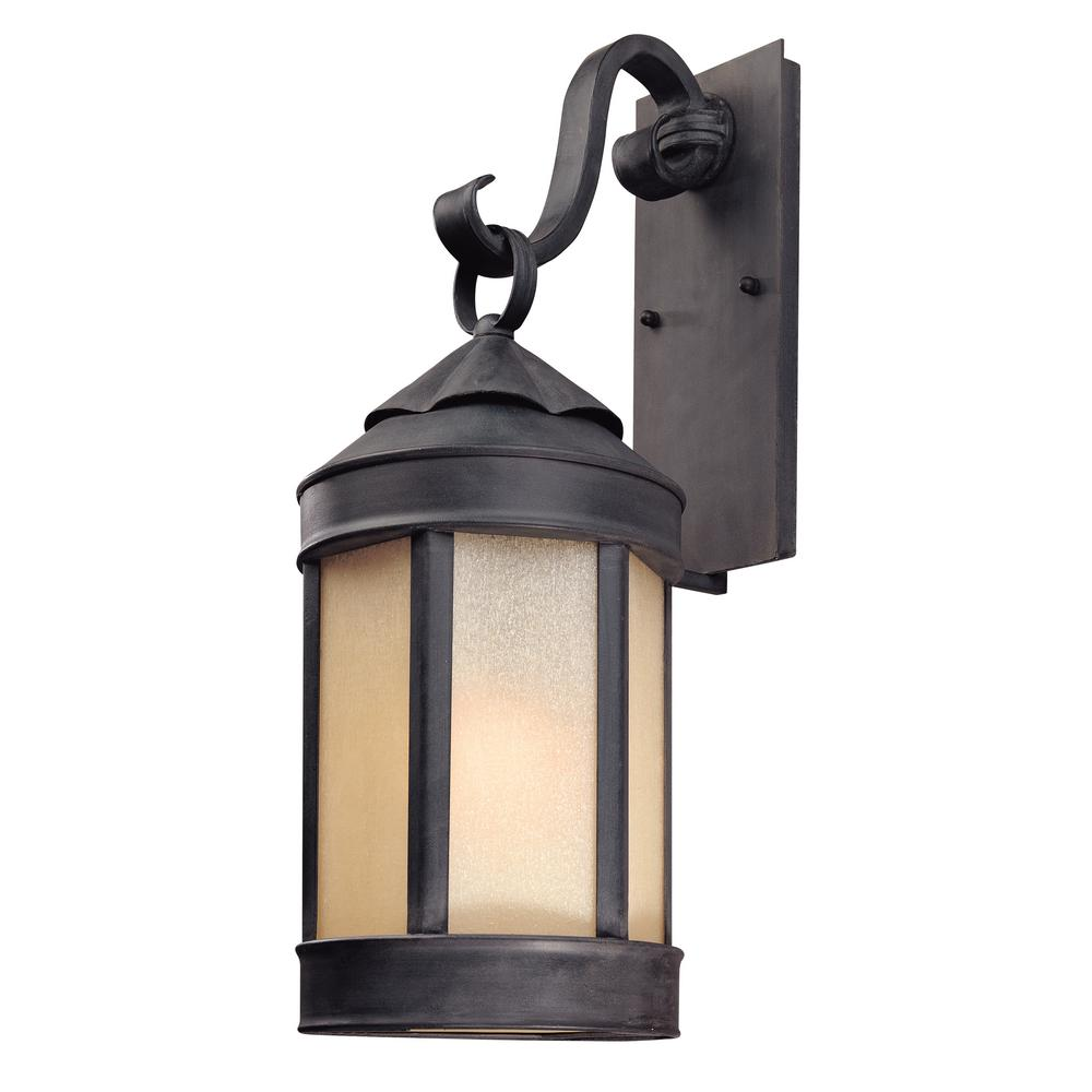 Troy Lighting Andersons Forge Antique Iron Outdoor Wall Lantern Sconce