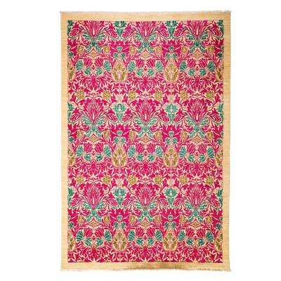 Arts Pink 6 ft. x 9 ft. Indoor Area Rug