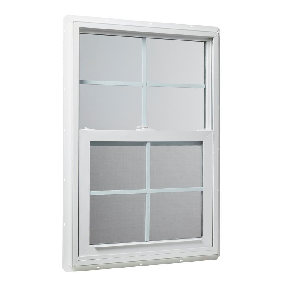 Building Hardware Tafco Windows Utility Fixed Picture Vinyl Window 20 In X 25 In With Grid White Home Garden Other Window Accessories