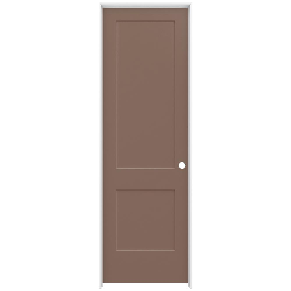 Jeld Wen 30 In X 96 In Monroe Medium Chocolate Left Hand Smooth Solid Core Molded Composite