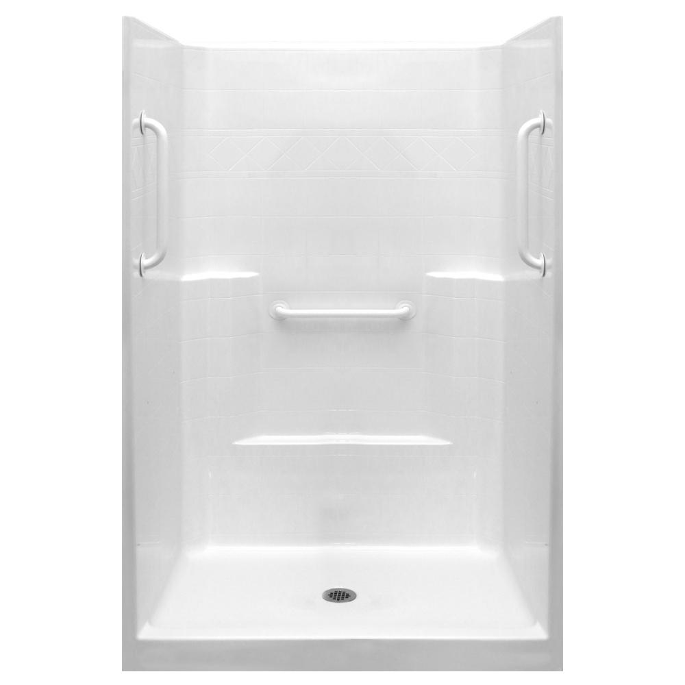 Ella Ultimate-W 42 in. x 42 in. x 80 in. 1-Piece Low Thre...