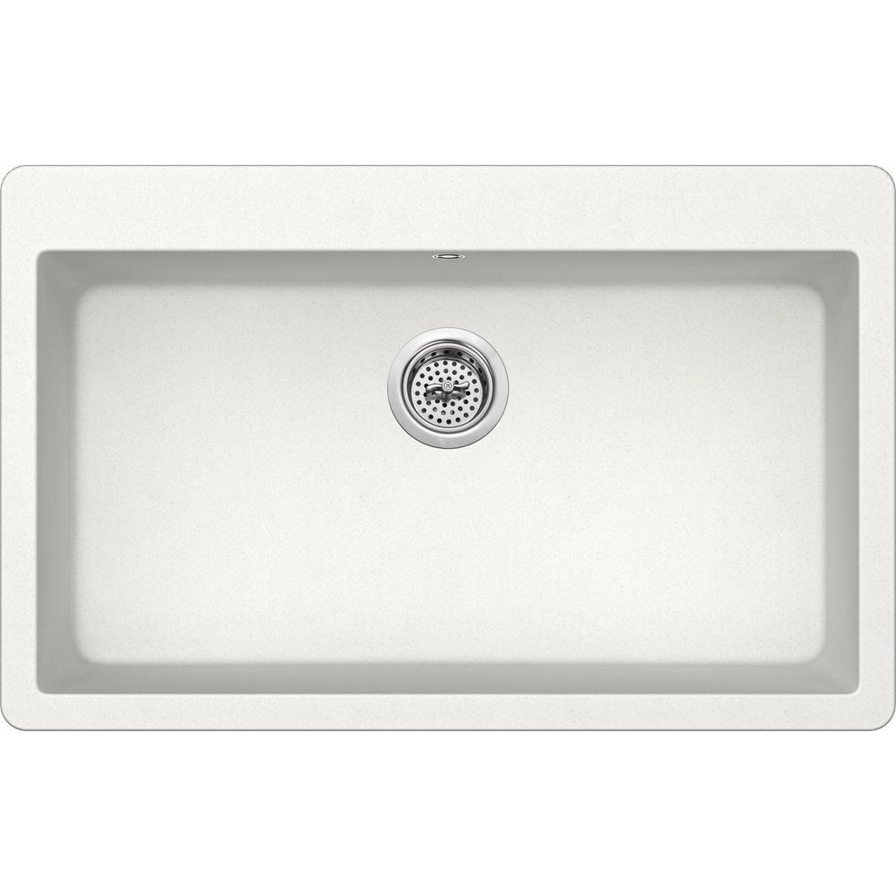 white kit single drop in kitchen sinks kitchen sinks the rh homedepot com