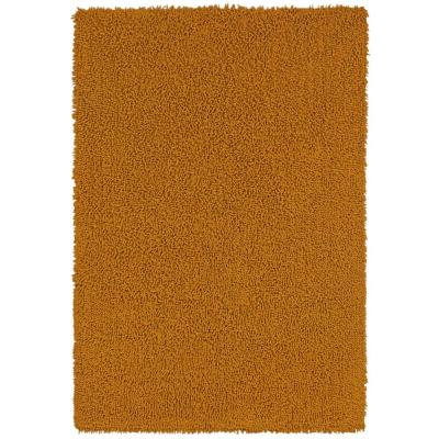 Gold Shag Chenille Twist 4 ft. x 6 ft. Area Rug