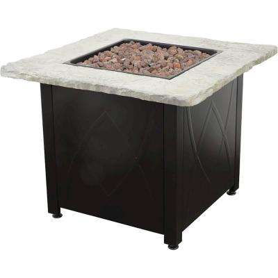 30 in. Propane Stainless Steel Fire Pit Table