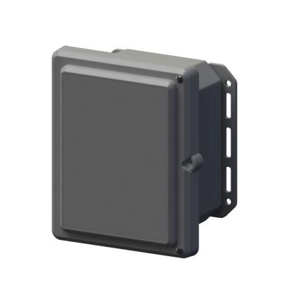 9.7 in. L x 8.2 in. W x 5.5 in. H Polycarbonate Gray Hinged Screw Top Cabinet Enclosure with Gray Bottom