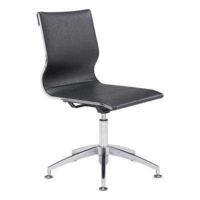 Glider Black Leatherette Conference Office Chair