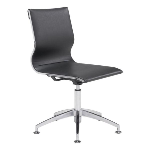 ZUO Glider Black Leatherette Conference Office Chair 100377