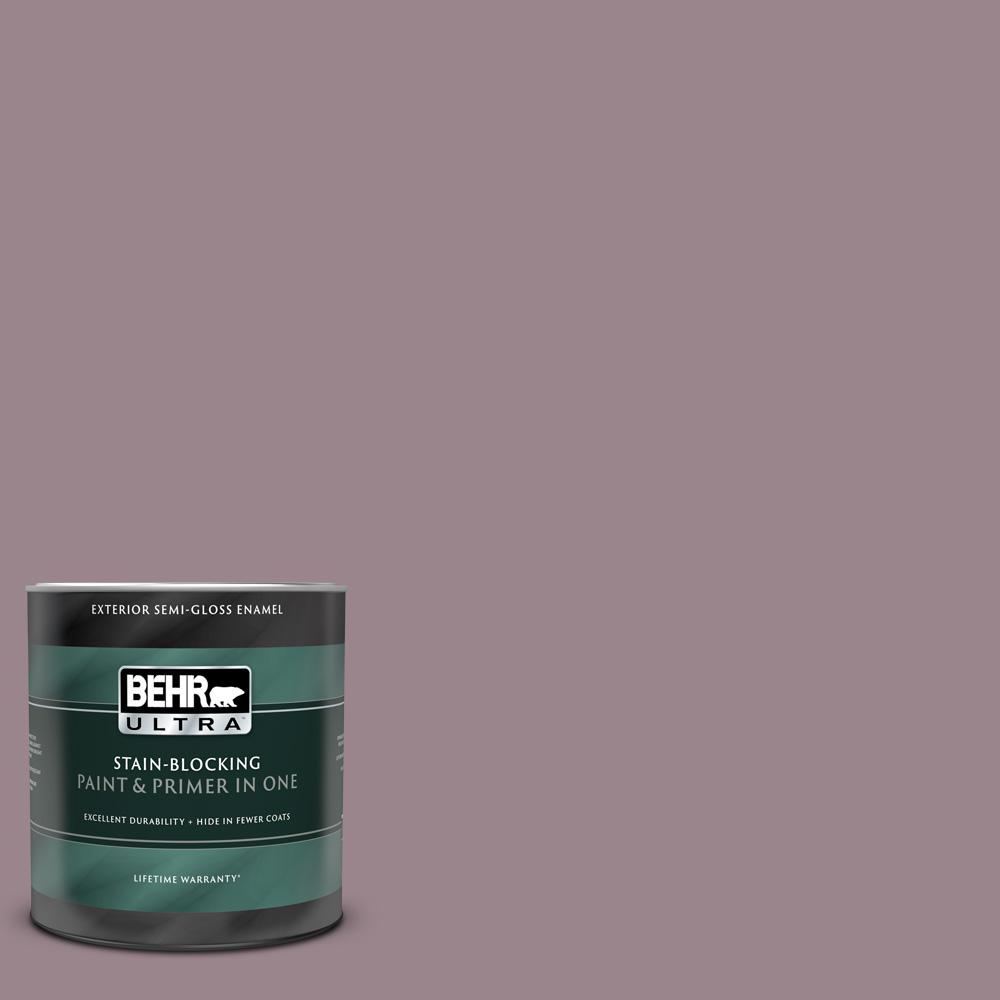 Behr Ultra 1 Qt Ppu17 14 Dream Sunset Semi Gloss Enamel Exterior Paint And Primer In One 585404 The Home Depot