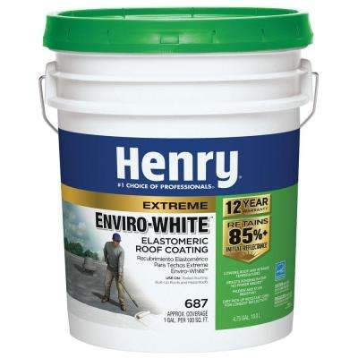 4.75 Gal. 687 Enviro White Roof Coating (24-Piece)
