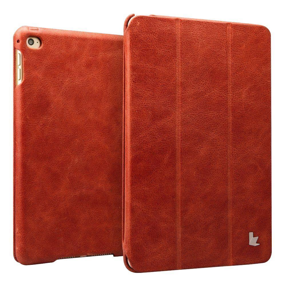 Vintage Genuine Leather Smart Case - Red