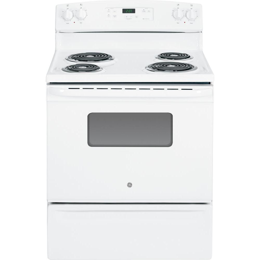 31 in. 5.0 cu. ft. Electric Range in White
