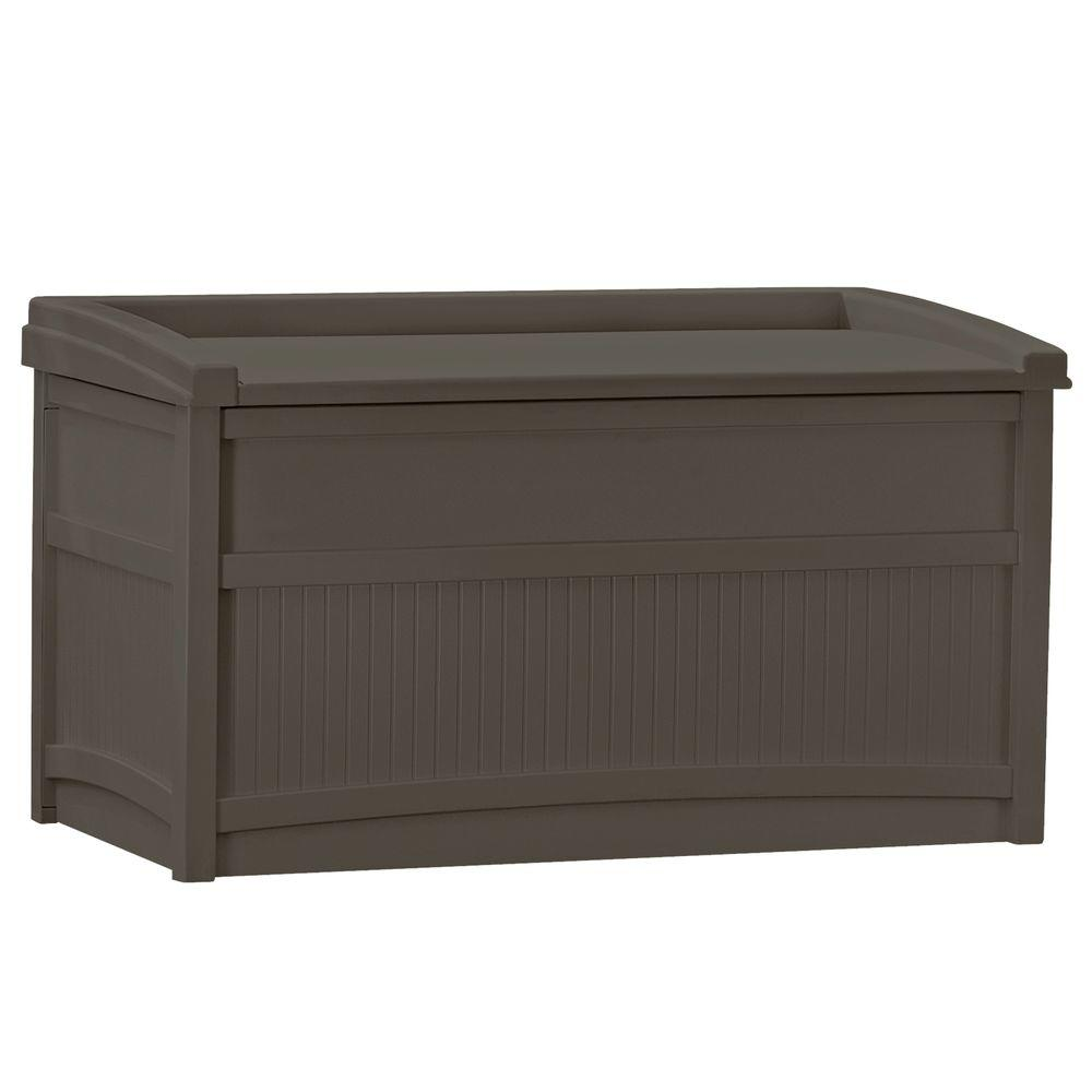 suncast 50 gal resin deck box db5500j the home depot