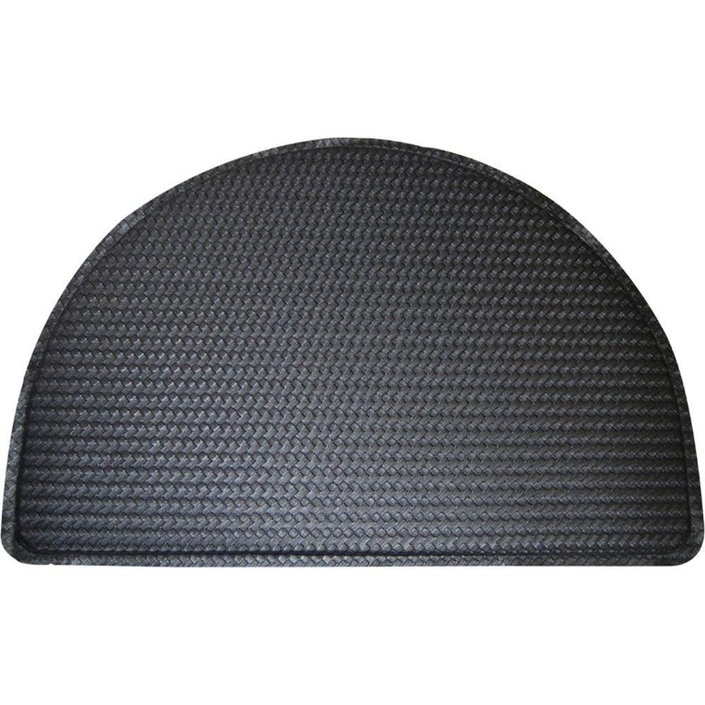 Anti Fatigue Kitchen Mat Semicircle Home Dynamix Soothing Step Black