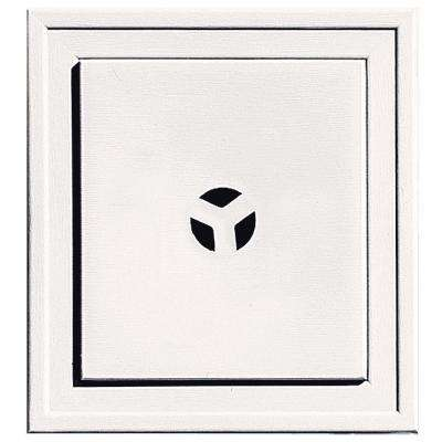 7.9375 in. x 7.9375 in. #117 Bright White Slim Line Universal Mounting Block