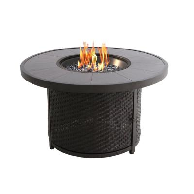 Milano 42 in. Round Aluminum Fire Pit Table