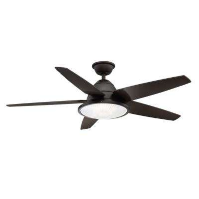 Berwick 52 in. LED Outdoor Espresso Bronze Ceiling Fan with Light